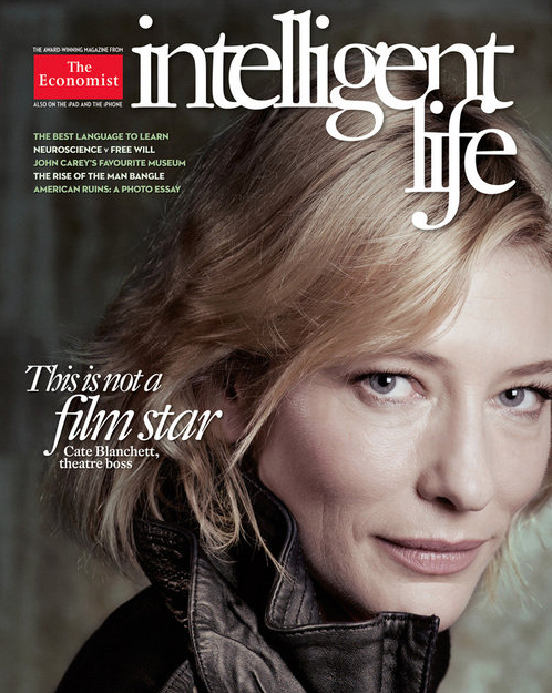 Cate Blanchett on The Economist - Photo Credit to The Economist magazine