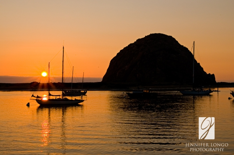 Morro Rock in Morro Bay, CA