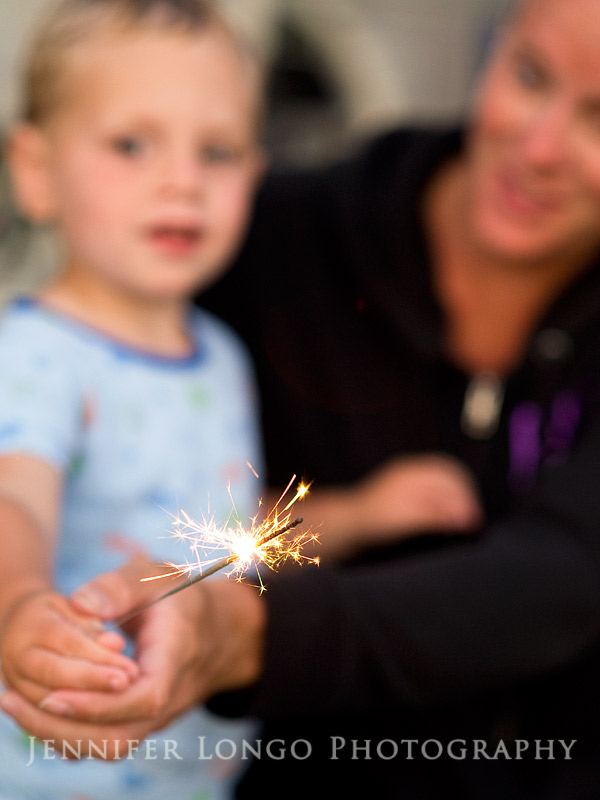 Child with Sparklers