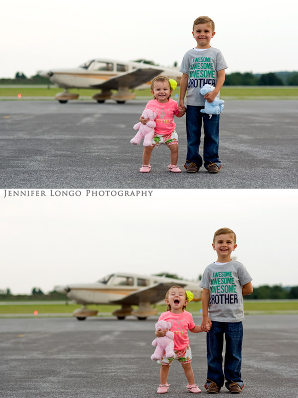 Airport family photography session