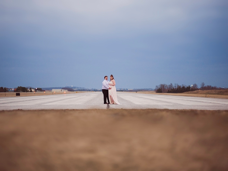 Airport Maternity Photography